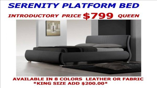SEREMITY SLEIGH BED FRAME (710 x 400) new