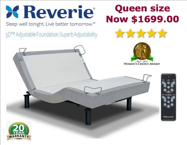 Reverie 5D adjustable bed pop